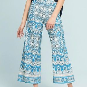 NWT ANTHROPOLOGY FEATHER & BONE wide leg pants
